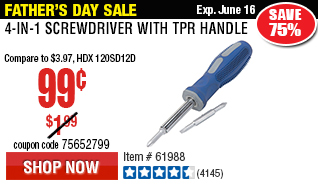 4-in-1 Screwdriver with TPR Handlep