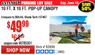 10 ft. x 10 ft. Pop-Up Canopy