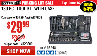 130 Pc Tool Kit with Case