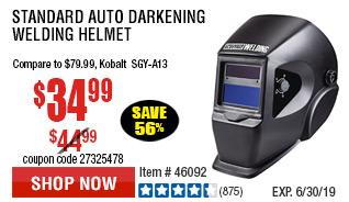 Standard Auto Darkening Welding Helmet