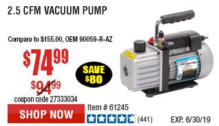 2.5 CFM VACUUM PUMP