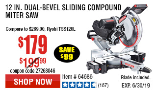 12 in. Dual-Bevel Sliding Compound Miter Saw