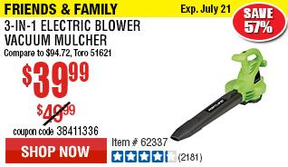 3-In-1 Electric Blower Vacuum Mulcher