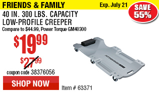 40 In. 300 Lbs. Capacity Low-Profile Creeper®