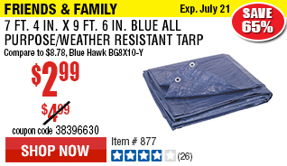 7 ft. 4 in. x 9 ft. 6 in. Blue All Purpose/Weather Resistant Tarp®
