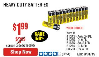 AA Heavy Duty Batteries 24 Pk