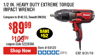2 in. Heavy Duty Extreme Torque Impact Wrench