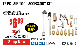 17 Pc Air Tool Accessory Kit