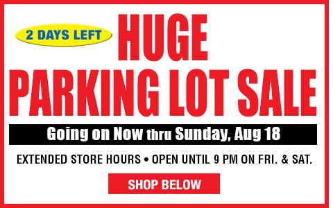 Huge Parking Lot Sale