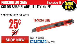 Color Snap Blade Utility Knife