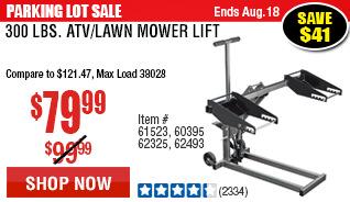 300 lbs. ATV/Lawn Mower Lift