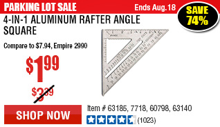 4-in-1 Aluminum Rafter Angle Square