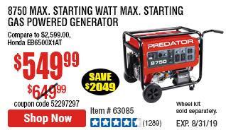 8750 Max Starting Watt Max Starting Gas Powered Generator
