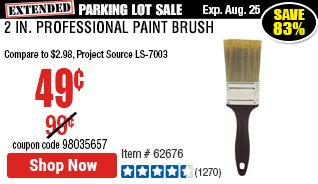2 in. Professional Paint Brush