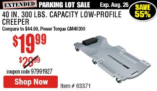 40 in. 300 lbs. Capacity Low-Profile Creeper