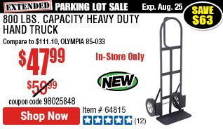 800 lbs. Capacity Heavy Duty Hand Truck