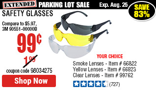 Safety Glasses with Clear Lenses