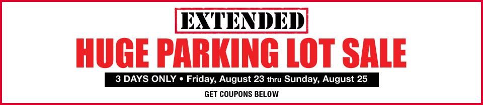 Extended Parking Lot Sale