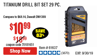 Titanium Drill Bit Set 29 Pc
