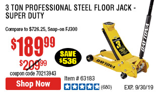 3 Ton Professional Steel Floor Jack - Super Duty