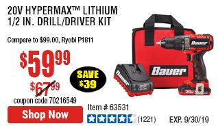 20V Hypermax™ Lithium 1/2 in. Drill/Driver Kit