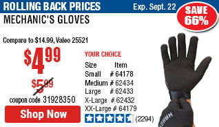 Mechanic's Gloves X-Large