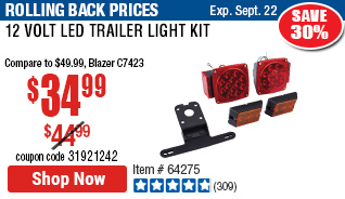 12 Volt LED Trailer Light Kit