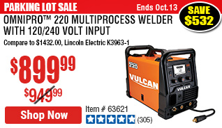 OmniPro™ 220 Industrial Multiprocess Welder with 120/240 Volt Input