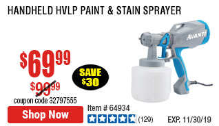 Handheld HVLP Paint & Stain Sprayer