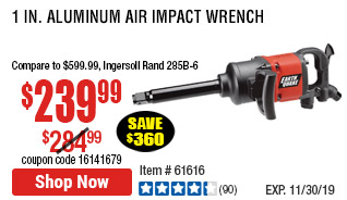 1 in. Aluminum Air Impact Wrench