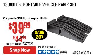 13,000 Lb. Portable Vehicle Ramp Set