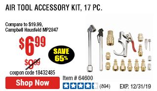 Air Tool Accessory Kit, 17 Pc.