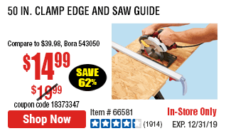 50 In. Clamp and Cut Edge Guide