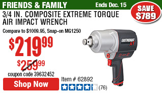 3/4 in. Composite Xtreme Torque Air Impact Wrench