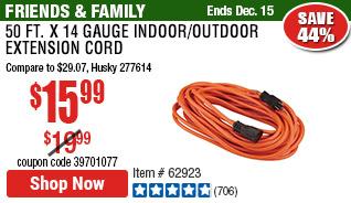 50 ft. x 14 Gauge Indoor/Outdoor Extension Cord
