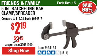 6 in. Ratcheting Bar Clamp/Spreader