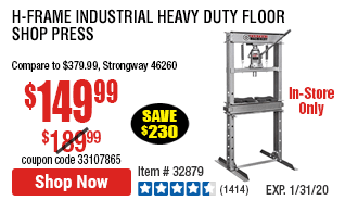 H-Frame Industrial Heavy Duty Floor Shop Press