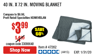 40 in. x 72 in. Moving Blanket®