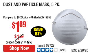 Dust and Particle Mask, 5 Pk.