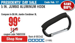 5 in. Jumbo Aluminum Hook