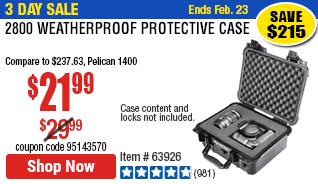 2800 Weatherproof Protective Case - Medium