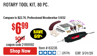 Rotary Tool Kit, 80 Pc.