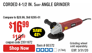 Corded 4-1/2 in. 5 Amp Angle Grinder