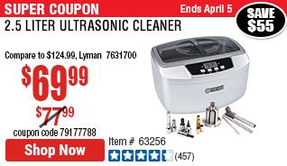 2.5 Liter Ultrasonic Cleaner