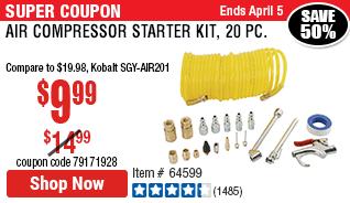Air Compressor Starter Kit, 20 Pc.