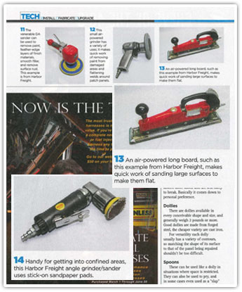 Classic Trucks Magazine about Sanders and Polishers