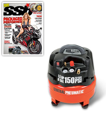 1.5 Horsepower, 6 gal., 150 PSI Professional Oilless Air Compressor