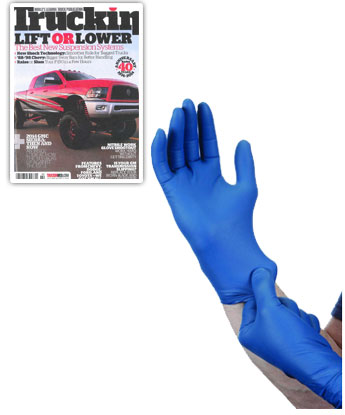 7 Mil Nitrile Powder-Free Gloves 50 Pc Large