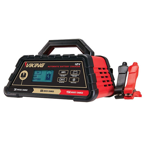 VIKING - 2/8/15 Amp Automatic Microprocessor Controlled Battery Charger