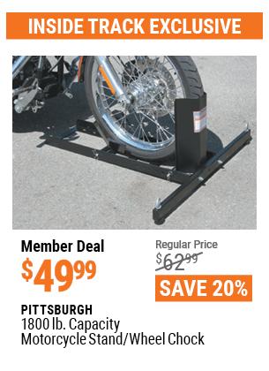 1800 Lb. Capacity Motorcycle Stand/Wheel Chock